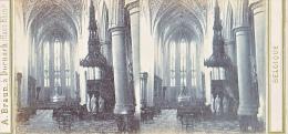 PS38 Photo Collection Stéréoscopique -Braun Dornach -Belgique - Liege Interieur Eglise Paul N°4183 - Photos Stéréoscopiques
