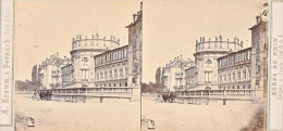 PS41 Photo Collection Stéréoscopique -Braun Dornach -Bords Du Rhin -Biberich Chateau Nassau N°885 - Photos Stéréoscopiques