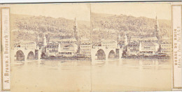 PS42 Photo Collection Stéréoscopique -Braun Dornach -Bords Du Rhin -Heidelberg N°910 AGF Paris - Photos Stéréoscopiques