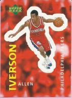 Sticker - UPPER DECK, 1997. - Basket / Basketball, No 308 - Allen Iverson, Philadelphia 76ers - Basketball - NBA
