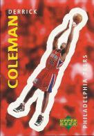 Sticker - UPPER DECK, 1997. - Basket / Basketball, No 309 - Derrick Coleman, Philadelphia 76ers - Basketball - NBA