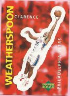 Sticker - UPPER DECK, 1997. - Basket / Basketball, No 310 - Clarence Weatherspoon, Philadelphia 76ers - Basketball - NBA