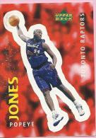Sticker - UPPER DECK, 1997. - Basket / Basketball, No 313 - Popeye Jones, Toronto Raptors - Basketball - NBA