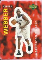 Sticker - UPPER DECK, 1997. - Basket / Basketball, No 332 - Chris Webber, Washington Wizards - Basketball - NBA