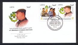 Libya 2014 – FDC - The 60th Anniversary Of The Libyan Scouts - Libya