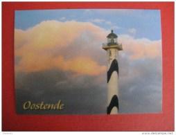 Carte Postale Moderne Phare Lange Nelle (Grande Nelly) , Oostende - Vuurtorens