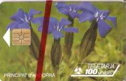 AND-022 TARJETA DE ANDORRA IRIS AZUL (FLOWER)  NUEVA-MINT CON BLISTER - Andorra