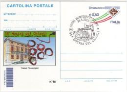 Italia 2013 Cartolina Postale Repiquage Montespertoli Mostra Vite E Vino Mostra Del Chianti - Vini E Alcolici