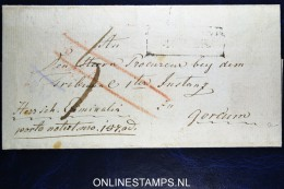 Cover 1831 ?  Noordsch Grenskantoor Cancel Naar Gorcum  Korteweg 172, Van Der Linden 2038 - Niederlande