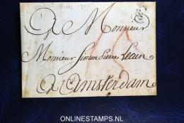 Brief Uit 1785 Naar Amsterdam, Met Een Bestellijst Of Inventaris - Nederland