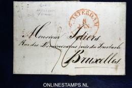 Complete Brief  Van Amsterdam Naar  Brussel , 1830 - ...-1852 Voorlopers