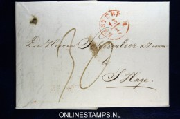 Complete Brief  Van Amsterdam Naar Den Haag, 1844 - ...-1852 Vorläufer