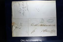 Complete Brief  Van Amsterdam Naar Den Haag 1848  Franco 25 Cent - ...-1852 Voorlopers