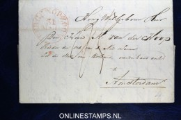 Complete Brief Bergen Op Zoom Naar Amsterdam 1834 - ...-1852 Voorlopers