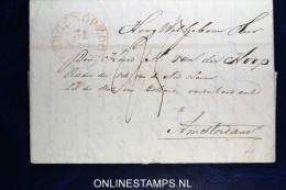 Complete Brief Bergen Op Zoom Naar Amsterdam 1834 - Pays-Bas