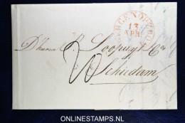 Complete Brief Bergen Op Zoom Naar Schiedam 1834 - Nederland