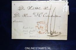 Complete Brief Deventer Naar Zutphen,  Rondstempel Zonder Jaartal, Met Punt Zeldzaam, Fragiel - Nederland