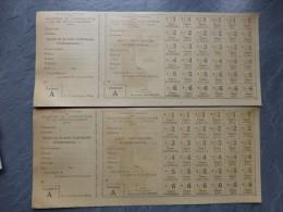"""Guerre 14-18 Lot De 2 Cartes De Ravitaillement """"A"""" état Superbe ; Ref 819 - Documents Historiques"""
