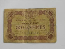 Chambre De Commerce BAR LE DUC - 50 Centimes 1920 **** EN ACHAT IMMEDIAT **** - Chambre De Commerce