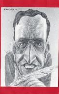 """ILLUSTRATEUR  BERNARD VEYRI  CARICATURE DE JEAN-CHARLES AUTEUR DE LA FOIRE AUX CANCRES  A ECRIT """" MEURTRE SUR CP """" - Veyri, Bernard"""