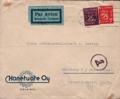 FINLAND - AIR MAIL LETTER 1943 HELSINKI -> NÜRNBERG/GERMANY - Briefe U. Dokumente