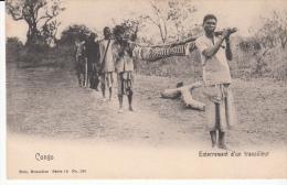 CONGOBELGE ENTERREMENT D'UN TRAVAILLEUR - Congo Belge - Autres