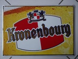 AUTHENTIQUE Et JOLIE PLAQUE EMAILLEE BIERE KRONEMBOURG. - Advertising (Porcelain) Signs