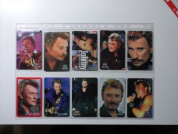 RARE : LOT OF 29 DIFFERENT PHONECARDS OF JOHNNY HALLIDAY  LIMITED EDITIONS 250EXP !!! - Music