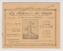 COLLECTEUR LA SEMEUSE DE PARIS 1968  - OCTROI DE CRÉDIT - - Old Paper