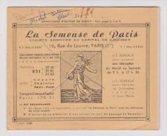 COLLECTEUR LA SEMEUSE DE PARIS 1971  - OCTROI DE CRÉDIT - - Old Paper