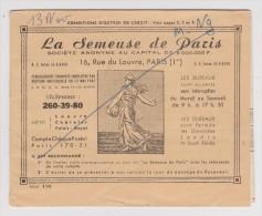 COLLECTEUR LA SEMEUSE DE PARIS 1974  - OCTROI DE CRÉDIT - - Old Paper
