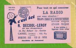 BUVARD : La Radio Philips DECOOL LEROY CASSEL Rose - Electricité & Gaz