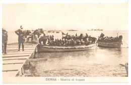 AFRICA - LIBIA - TROOPS LANDING IN DERNA - EDIT VAT - WAR ITALY - TURKEY - 1910s - Libia