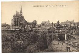 Conches - Eglise Ste Foy Et Entrée Du Tunnel - Conches-en-Ouche