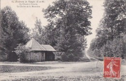 77 Près De NANGIS  La CHASSE à COURRE Chemin Et CHALET De La MEUNIERE Timbrée 1909 - Francia
