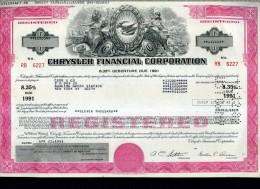 X CERTIFICATO AZIONARIO CHRYSLER FINANCIAL CORPORATION 1981 - Industrie