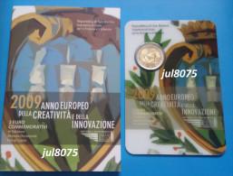 2 Euro Commemorative San Marin / Saint Marin 2009 Année De La Créativité Et De L'innovation PIECE NEUVE EN COFFRET - San Marino