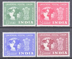 INDIA 223-6  *  GLOBE   MAP - 1947-49 Dominion