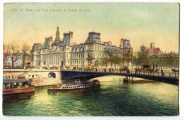 CPA 75 PARIS Le Pont D´ Arcole Et L´ Hotel De Ville - De Seine En Haar Oevers