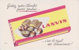 BUVARD CHOCOLAT LANVIN - EFGÉ - - Chocolat