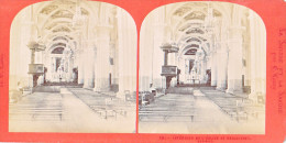 PS55 Photo Collection Stéréoscopique -Suisse Savoie Par Lamy 16 -interieur Eglise Sallanches - Photos Stéréoscopiques