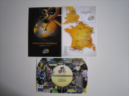 CYCLISME CICLISMO WIELRENNEN RADSPORT : 3 Cartes TOUR DE FRANCE   2014 Carte Pub Originale. - Cyclisme