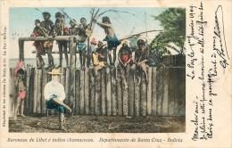 Bolivie - Cpa - Ethnique - Indiens De Bolivie -** Baronesa De Libet é Indios Chamacocos - Santa Cruz ** - Voir 2 Scans. - Bolivia