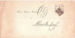 1908 CENT.1 DAL COMUNE DI GENOVA A ALBAVILLA MONFERRATO - Storia Postale