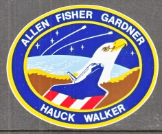 SPACE  SHUTTLE  FLIGHT  DECAL (  AUTOCOLLANT )  FROM  NASA - Stickers