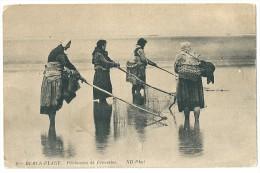 Cpa: 62 BERCK PLAGE (c. Montreuil) Pêcheuses De Crevettes (Pêche) 1913 N° 6 - Berck