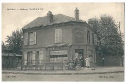 """Cpa: 60 BORNEL (ar. Beauvais) Maison Vaillant, Café De La Gare """"Au Rendez Vous De Chasse"""" N° 1 - Autres Communes"""