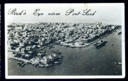 Cpa Carte Photo Egypte Bird's Eye View Port Said    AO35 - Port Said