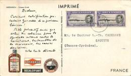 Sainte-Hélène - ** Ascension - Poisson Armé ** - Cp Voyagée En 1952 - Format (10 X 18 Cm) - Infime Trace De Pli Transver - St. Helena