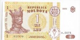 MOLDOVA  ; MOLDAVIE ; MOLDAU ; 1 Leu  ; 2002  ;  UNC - Moldova